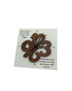orologio numeri con frase tempo